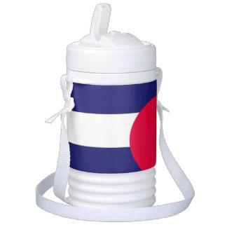 LEATHER PRIDE FLAG STRIPES DESIGN -.png Beverage Cooler