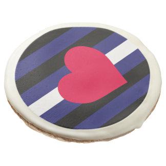 LEATHER PRIDE FLAG STRIPES DESIGN -.png Sugar Cookie
