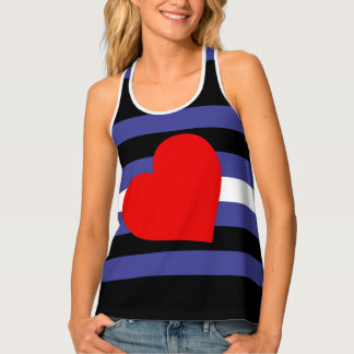 Leather Pride Flag Tank Top