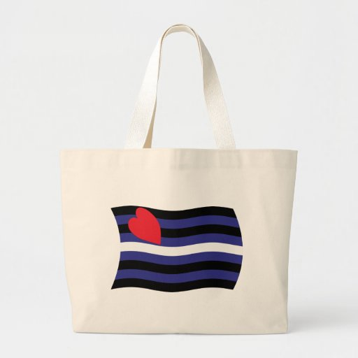 Leather Pride Flag Tote Bag