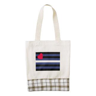 Leather Pride Flag Zazzle HEART Tote Bag