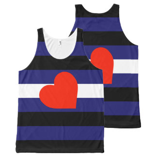Leather Pride All-Over Print Tank Top