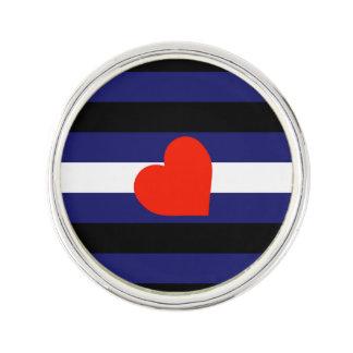 LEATHER PRIDE STRIPED HEART HORIZONTAL - 2014 PRID