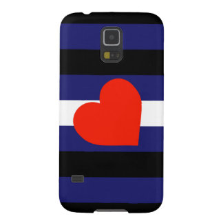 LEATHER PRIDE STRIPED HEART HORIZONTAL - 2014 PRID CASE FOR GALAXY S5
