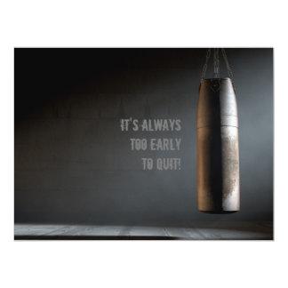 Leather Punching Bag - Motivational Card
