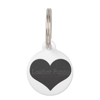Leather Puppy Pet ID Tags