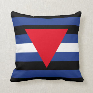 LEATHER QUEER PRIDE THROW PILLOW