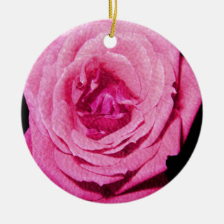 Leather Rose Christmas Tree Ornament