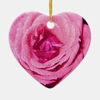 Leather Rose Christmas Tree Ornaments