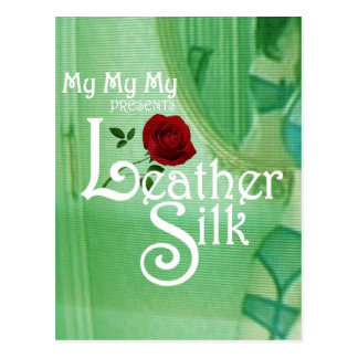 Leather Silk Cover Postcard