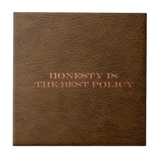 leather simulation words of wisdom tile design