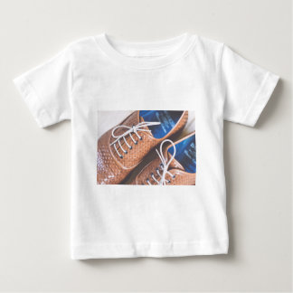Leather Snakeskin Brown shoes Baby T-Shirt