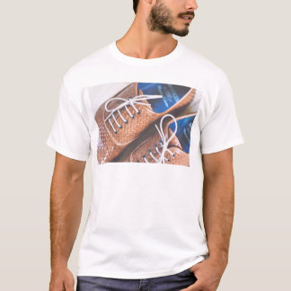 Leather Snakeskin Brown shoes T-Shirt