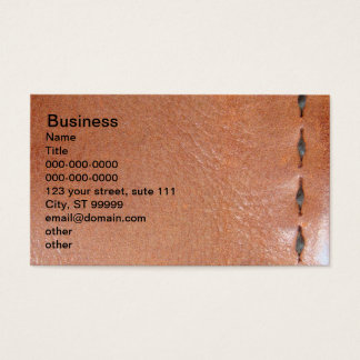 Leather - Stitched Business Card