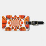 Leather Strap Basketball Luggage Tag