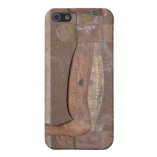 Leather Strap on Antique Trunk Cover For iPhone SE/5/5s