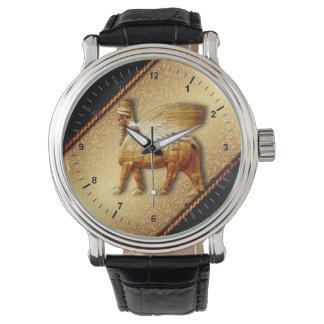 Leather strap Watch wingedbull (Lamassu)