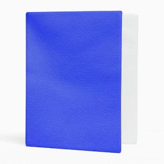 leather structure,blue mini binder