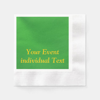 leather structure,green coined cocktail napkin