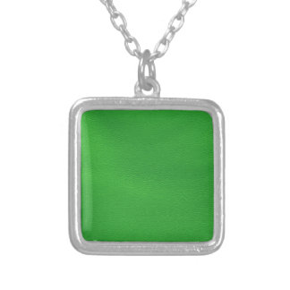 leather structure,green custom necklace