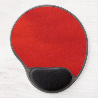 leather structure,red gel mouse pad