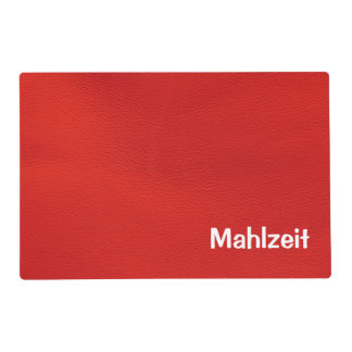 leather structure,red placemat