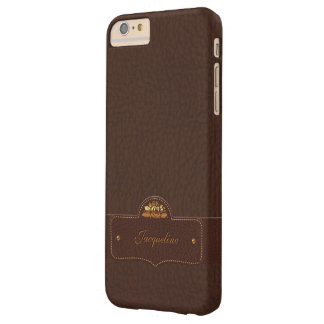 Leather Style Luxury Name Barely There iPhone 6 Plus Case