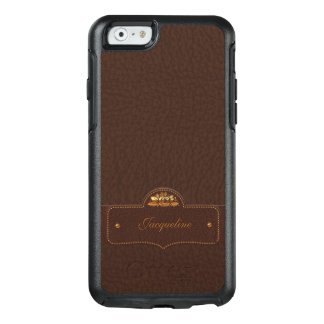 Leather Style Luxury Name OtterBox iPhone 6/6s Case