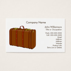 Leather Suitcase Travel Theme Custom Business Card at Zazzle