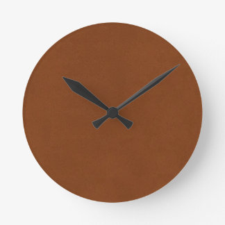 Leather Texture artistic background diy template Round Clock