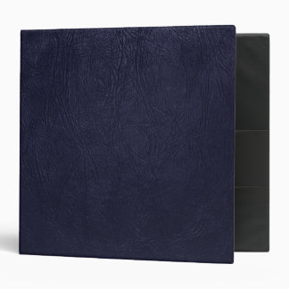 Leather Texture, Leather Background - Blue 3 Ring Binder