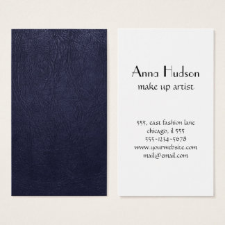Leather Texture, Leather Background - Blue Business Card