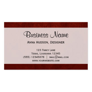 Leather Texture, Leather Background - Red Business Card