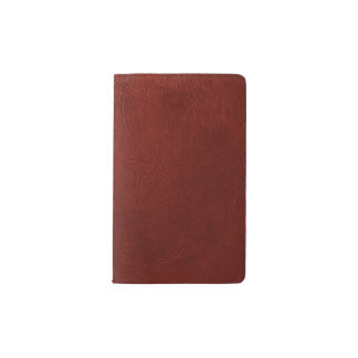 Leather Texture, Leather Background - Red Pocket Moleskine Notebook