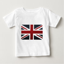 Leather Texture Pattern Union Jack British(UK) Fla Baby T-Shirt
