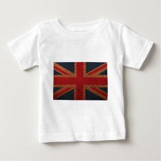 Leather Texture Pattern Union Jack British(UK) Fla Baby T-Shirt