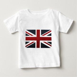 Leather Texture Pattern Union Jack British(UK) Fla Infant T-shirt