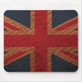 Leather Texture Pattern Union Jack British(UK) Fla Mouse Pad