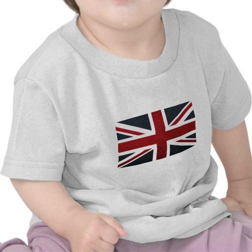 Leather Texture Pattern Union Jack British(UK) Fla Tees