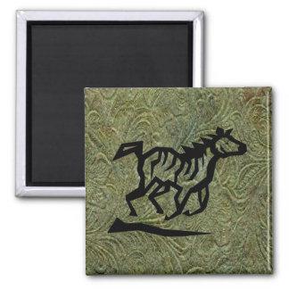 Leather Tool Print Design w/ Horse Fridge Magnet