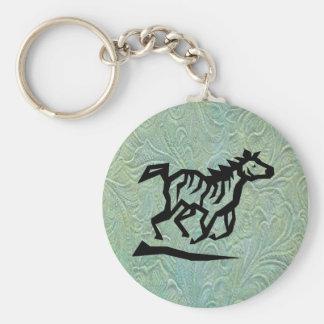 Leather Tool Print Design w/Horse Keychain
