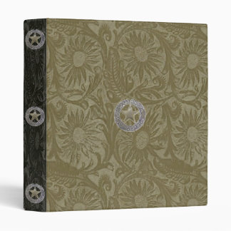 Leather Tool Print Two Tone Conchos Style ~ Binder