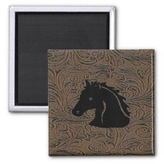 Leather Tool Print W/Horse Head Fridge Magnet