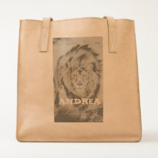 LEATHER TOTE (ADD YOUR NAME)