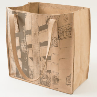 Leather tote bag with image of Birmingham on