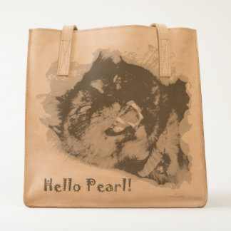 Leather Tote. Hello Pearl Collection Tote