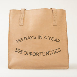Leather Tote of Opportunities