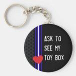 Leather Toybox Keychain