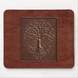 Leather Tree Design Mousepads