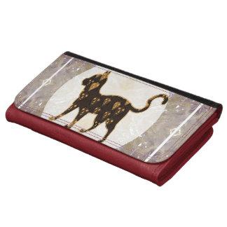 Leather Wallet Smart Art Cute Cat Animal Pet